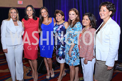 Jacqueline Hernández, Julissa Marenco, Gaby Espino, Janet Murguía, Galina Espinoza, Lisa Quiroz, Monica C. Lozano. 2011 NCLR Annual Conference Latinas Brunch Focuses on Women. Washington Marriott Wardman Park. Photo by Alfredo Flores. July 24, 2011