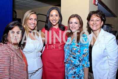 Lisa Quiroz, Jacqueline Hernández, Julissa Marenco, Galina Espinoza, Monica C. Lozano. 2011 NCLR Annual Conference Latinas Brunch Focuses on Women. Washington Marriott Wardman Park. Photo by Alfredo Flores. July 24, 2011