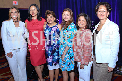 Jacqueline Hernández, Julissa Marenco, Janet Murguía, Galina Espinoza, Lisa Quiroz, Monica C. Lozano. 2011 NCLR Annual Conference Latinas Brunch Focuses on Women. Washington Marriott Wardman Park. Photo by Alfredo Flores. July 24, 2011