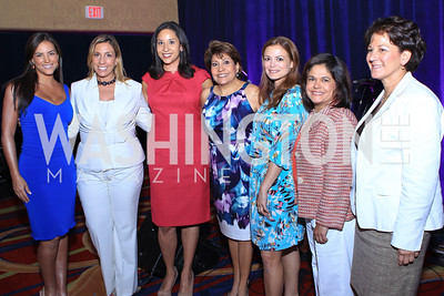 Gaby Espino, Jacqueline Hernández, Julissa Marenco, Janet Murguía, Galina Espinoza, Lisa Quiroz, Monica C. Lozano. 2011 NCLR Annual Conference Latinas Brunch Focuses on Women. Washington Marriott Wardman Park. Photo by Alfredo Flores. July 24, 2011