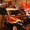 Stuart Harrold with the car he competed in the RAc rally