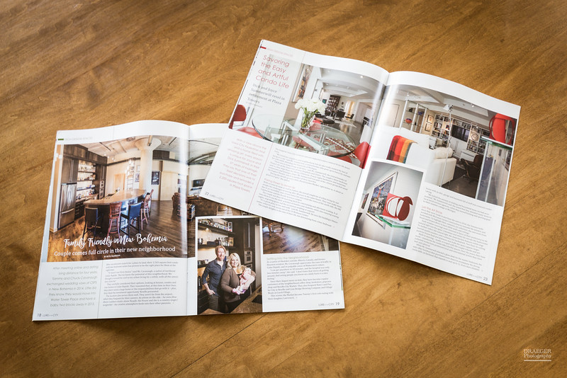 Draeger Photography was commissioned to provide photo's for magazine articles featuring downtown living in Cedar Rapids and Iowa City.