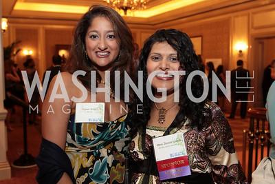 Sushma Shendy, Minal Damani Kundra. NFTE Dare to Dream Gala 2011. Photo by Alfredo Flores. Ritz-Carlton, Washington D.C.. April 27, 2011