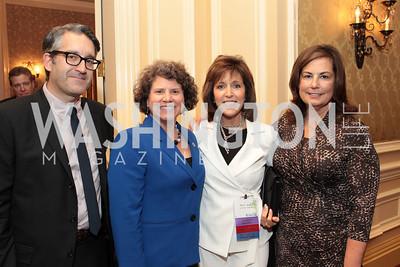 Dan Delany, Celie Niehaus, Patty Alper, Amy Roben. NFTE Dare to Dream Gala 2011. Photo by Alfredo Flores. Ritz-Carlton, Washington D.C.. April 27, 2011