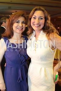 Teri Galvez, Katie Palmer. NFTE Dare to Dream Gala 2011. Photo by Alfredo Flores. Ritz-Carlton, Washington D.C.. April 27, 2011