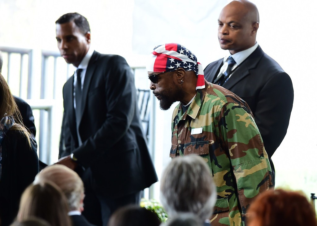 . Actor Mr. T arrives for the funeral service of US former First Lady Nancy Reagan on March 11, 2016, at the Ronald Reagan Presidential Library in Simi Valley, California.         (FREDERIC J. BROWN/AFP/Getty Images)