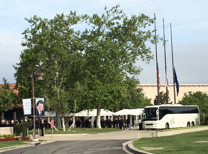 . Funeral services and burial for the former first lady at the Reagan Presidential Library in Simi Valley. (Photo by Liset Marquez/Inland Valley Daily Bulletin)