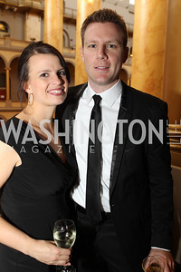 Abby Froemming, Adam Froemming. Photo by Alfredo Flores. National Building Museum's Honor Award Gala. National Building Museum. May 17, 2011
