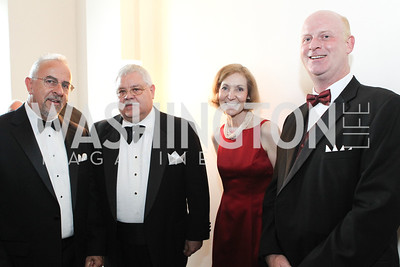 Steve Smith, Norm Hasbrouck, Ellen Hasbrouck, Tim Buchanan. Photo by Alfredo Flores. National Building Museum's Honor Award Gala. National Building Museum. May 17, 2011