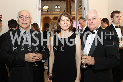 Gene Darnell, Chrysanthe Broikos, Milton Shinberg. Photo by Alfredo Flores. National Building Museum's Honor Award Gala. National Building Museum. May 17, 2011