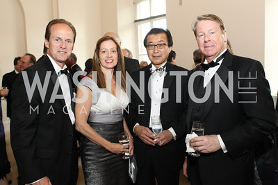 Craig Floyd, Veronica McCann Floyd, Tsutomu Ben Kishimoto, Chase Rynd. Photo by Alfredo Flores. National Building Museum's Honor Award Gala. National Building Museum. May 17, 2011