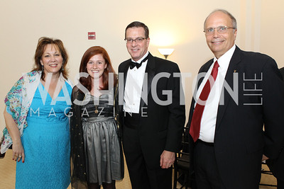 Carol Rieg, Brooke Barron, Chris Barron, Scott Lofgren. Photo by Alfredo Flores. National Building Museum's Honor Award Gala. National Building Museum. May 17, 2011