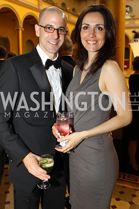 Anthony Fieldman, Jasmina Dizdarevic. Photo by Alfredo Flores. National Building Museum's Honor Award Gala. National Building Museum. May 17, 2011