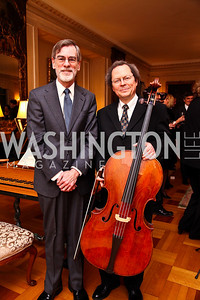 "Thomas MacCracken, Kenneth Slowik. National Gallery ""Canaletto Dinner."" Photo by Tony Powell. Villa Firenze. February 15. 2011"