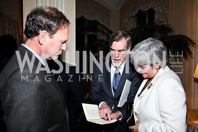 "Justice Samuel Alito, Thomas MacCracken, Martha Ann Alito. National Gallery ""Canaletto Dinner."" Photo by Tony Powell. Villa Firenze. February 15. 2011"