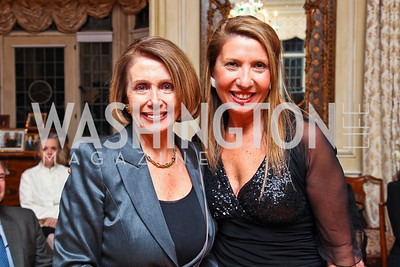 "Nancy Pelosi, Antonella Cinque. National Gallery ""Canaletto Dinner."" Photo by Tony Powell. Villa Firenze. February 15. 2011"