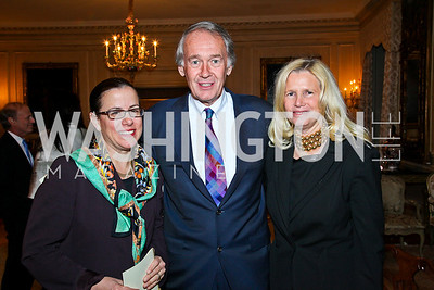 "Nancy Pelosi, Rep. Ed Markey and Susan Blumenthal. National Gallery ""Canaletto Dinner."" Photo by Tony Powell. Villa Firenze. February 15. 2011"