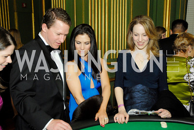 Jeff Kimball,Jessica Kimball,Jennifer Ruggiero,National Kidney Foundation Casino Night,February 26,2011,Kyle Samperton