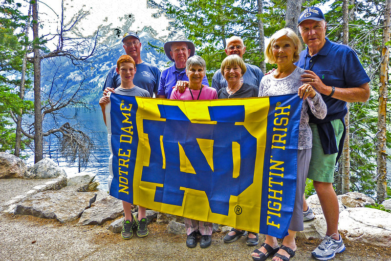 Left to Right - Connor Dyball, Kevin Dyball, Pat O'Neill, Jan O'Neill, Dick Lauber, Katy Lauber, Fran Mullen, Jack Mullen
