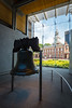 The Liberty Bell hangs across the street from Independence Hall. The bell was cast in England in 1752. The inscription on the bell (from Leviticus 25:10) took a deeper meaning after the events in July 1776. Philadelphia, PA<br /> <br /> PA-120705-0044