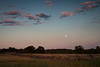 The moon rises over the Gettysburg battlefield. Gettysburg, PA<br /> <br /> PA-120702-0081