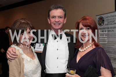 Susie Cooper, Drew Carroll, Ellen Carroll. National Wildlife Federation's 75th Anniversary Gala honoring Robert Redford at Hyatt Regency Capital Hill. Photo by Alfredo Flores. April 13, 2011.