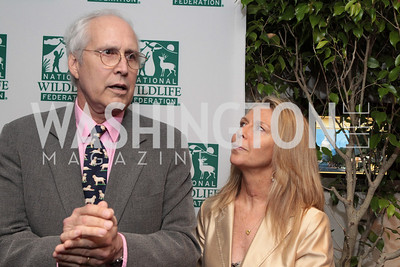 Chevy Chase, Jayni Chase. National Wildlife Federation's 75th Anniversary Gala honoring Robert Redford at Hyatt Regency Capital Hill. Photo by Alfredo Flores. April 13, 2011.
