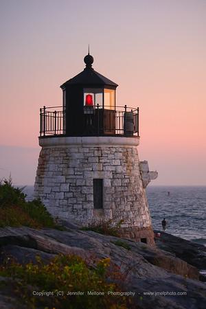 Castle Hill Light - Sunset Vertical