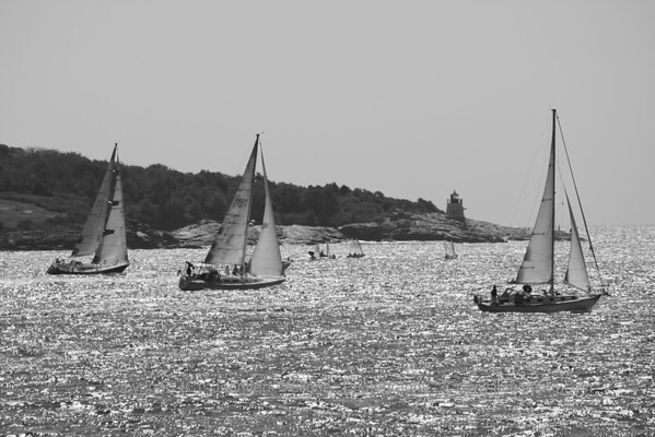 Racing out of Narragansett Bay East Passage