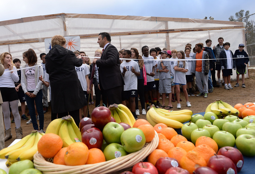 . Grand opening at Rolling Hills Prep School for their new greenhouse, which will enhance the school\'s horticulture program. Photo by Brad Graverson/The Daily Breeze 11/21/13