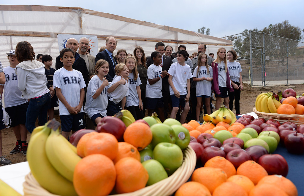 . Rolling Hills Prep School near their new greenhouse,which will enhance the school\'s horticulture program. Photo by Brad Graverson/The Daily Breeze 11/21/13