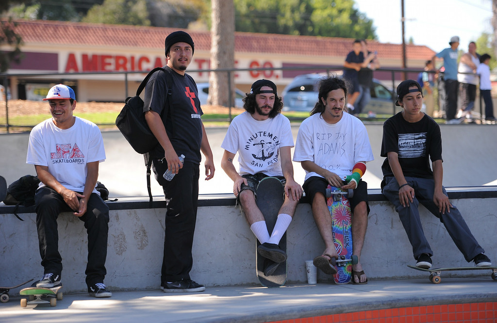 . Locals gather at the new San Pedro skatepark located in Peck Park along Western Ave. in SP. (Aug. 15 2014 Photo by Brad Graverson/The Daily Breeze)