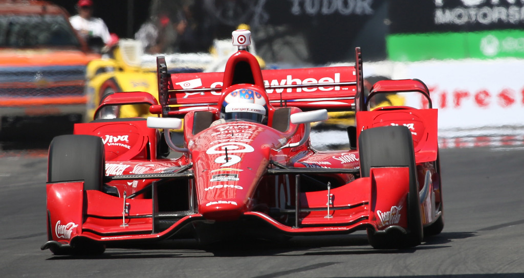 . Scott Dixon during the 41st Toyota Grand Prix of Long Beach, Sunday April 19th, 2015.  Chuck Bennett/Staff Photographer.