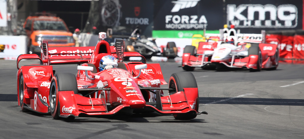 . Scott Dixon at the 41st Toyota Grand Prix of Long Beach, Sunday April 19th, 2015.  Chuck Bennett/Staff Photographer.