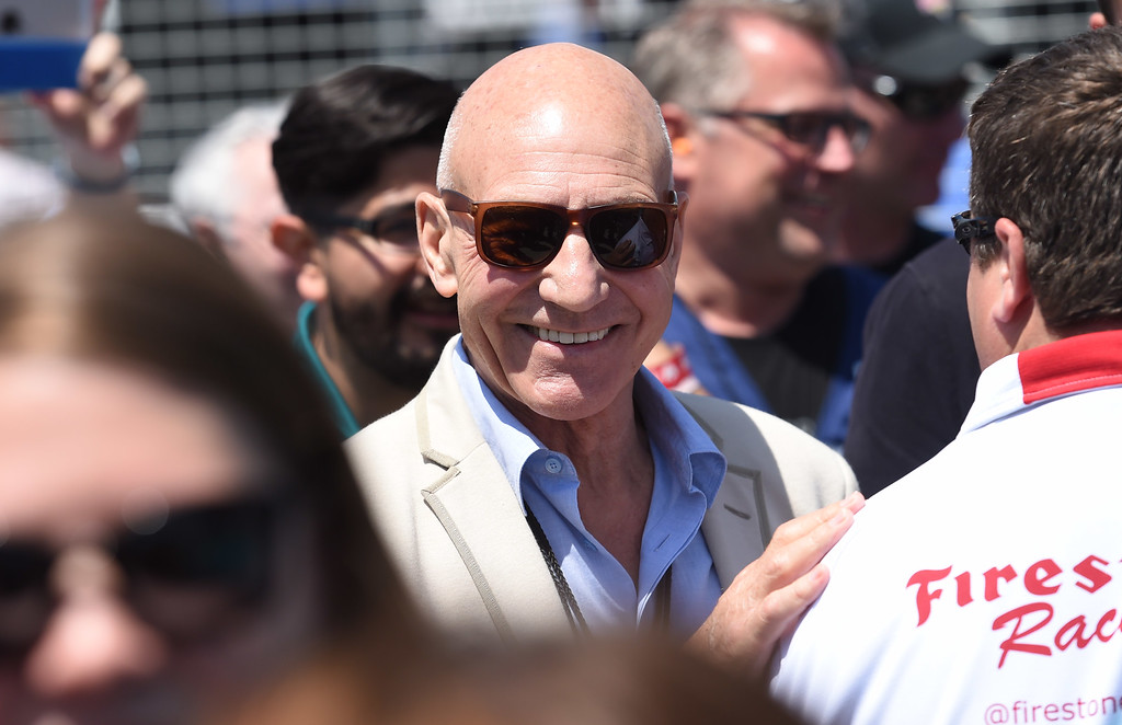 . Actor Sir Patrick Stewart served as Grand Marshal for the 41st Annual Toyota Grand Prix of Long Beach.  Long Beach  Calif., Sunday,  April,19, 2015.     (Photo by Stephen Carr / Daily Breeze)