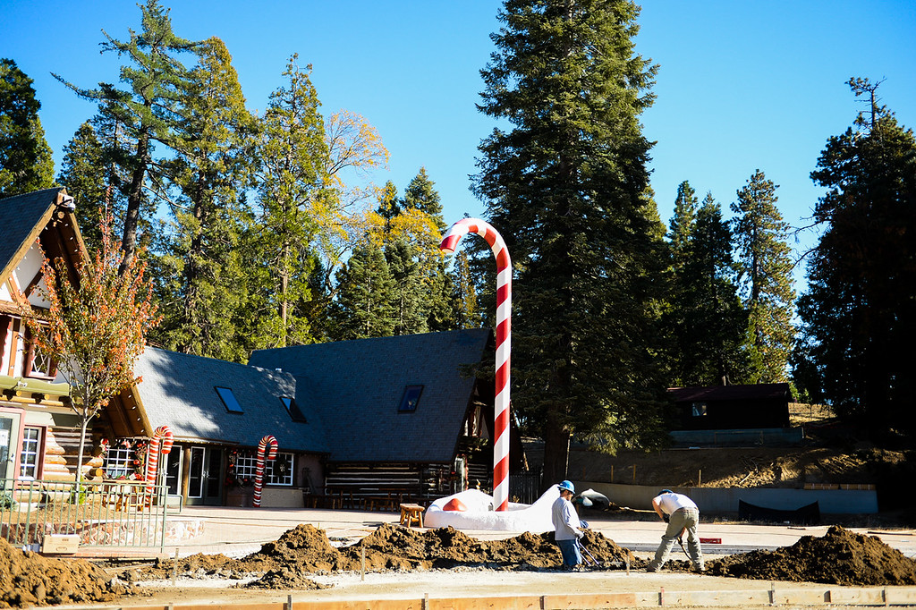 . Design and construction are near completion at the new Sky Park at Santa\'s Village in the Lake Arrowhead community of Skyforest, Calif. on Wednesday, Oct. 19, 2016. The amusement park is hoping to be granted the county permit to open and operate the Santa\'s Village portion of the park by Nov. 1. (Photo by Rachel Luna/The Sun, SCNG)