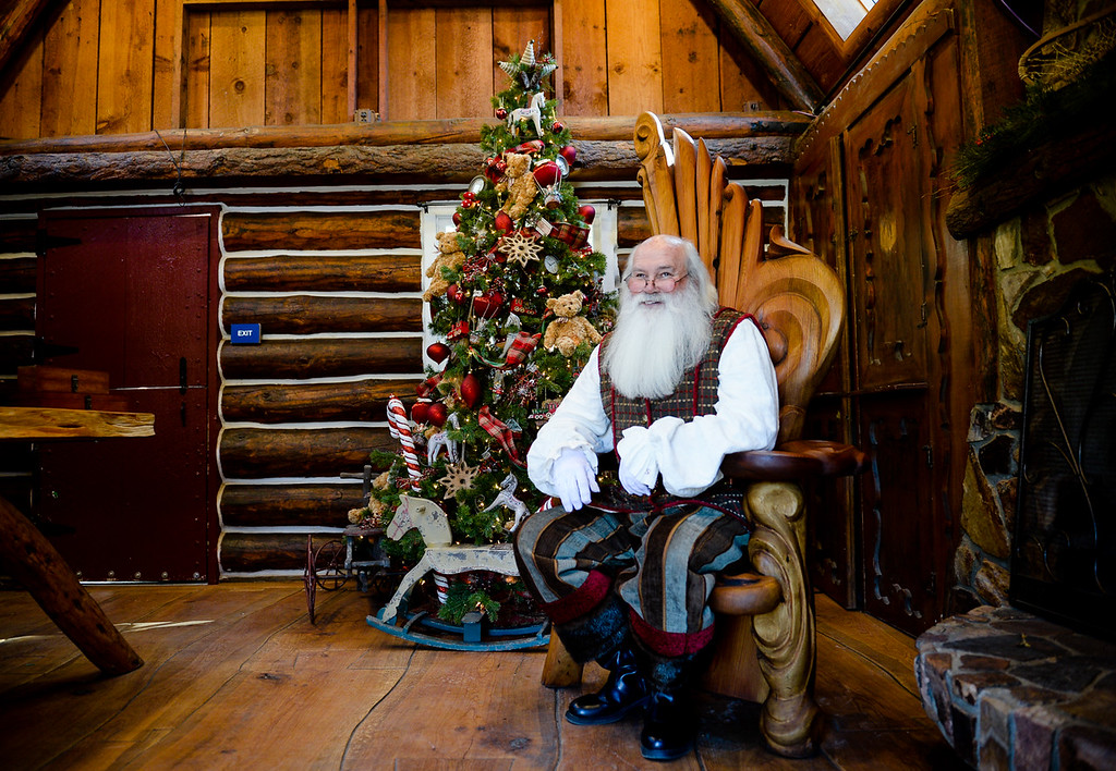. Santa Claus, played by Bill Priest of Lake Arrowhead, sits in his home at the new Sky Park at Santa\'s Village in the Lake Arrowhead community of Skyforest, Calif. on Wednesday, Oct. 19, 2016. The amusement park is hoping to be granted the county permit to open and operate the Santa\'s Village portion of the park by Nov. 1. (Photo by Rachel Luna/The Sun, SCNG)