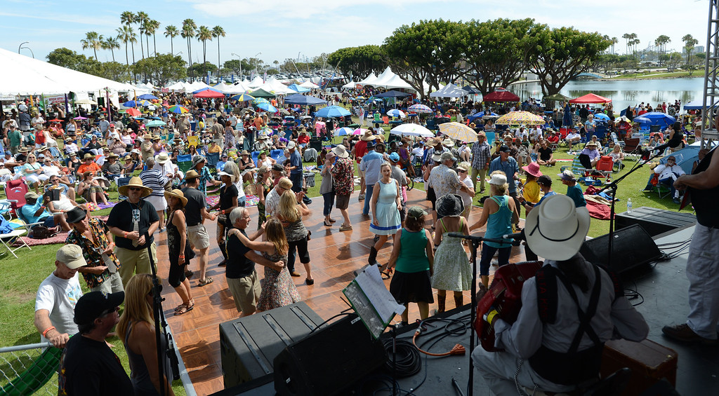 . Mark St. Mary Louisiana Blues and Zydeco band plays at the 28th Annual Long Beach Bayou Festival at Rainbow Lagoon. Long Beach Calif.,  Saturday June 21,  2014.     (Photo by Stephen Carr / Daily Breeze)
