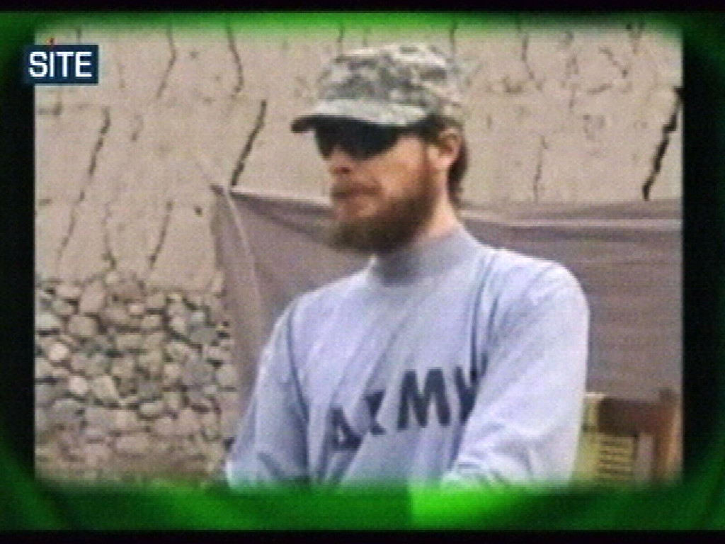 . This image made from video released Wednesday April 7, 2010 by the Taliban via the Site Intelligence Group shows U.S. soldier Pfc. Bowe Bergdahl. In the video, Bergdahl, captured in Afghanistan in June 2009, says he wants to return to his family in Idaho and that the war in Afghanistan is not worth the number of lives that have been lost or wasted in prison. It is the first he has been seen since the Taliban released a video of him on Christmas Day. (AP Photo/Site Intelligence Group)