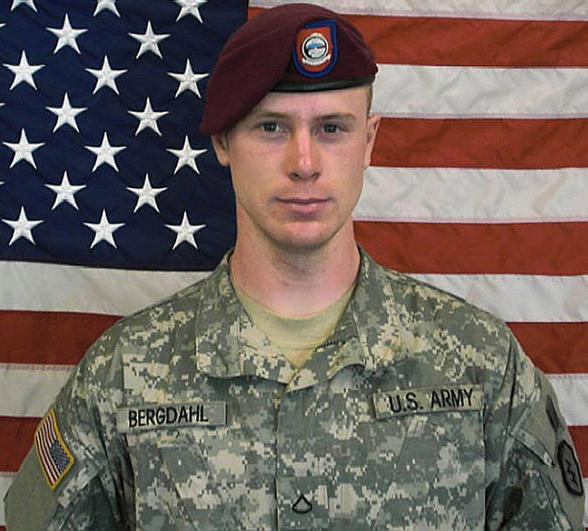 . This undated image provided by the U.S. Army shows Sgt. Bowe Bergdahl. U.S. officials say the only American soldier held prisoner in Afghanistan has been freed and is in U.S. custody.  Bergdahl, who abandoned his post in Afghanistan and was held captive by the Taliban, was charged Wednesday, March 25, 2015, by the U.S. military with desertion and misbehavior before the enemy and could get life in prison if convicted. (AP Photo/U.S. Army)