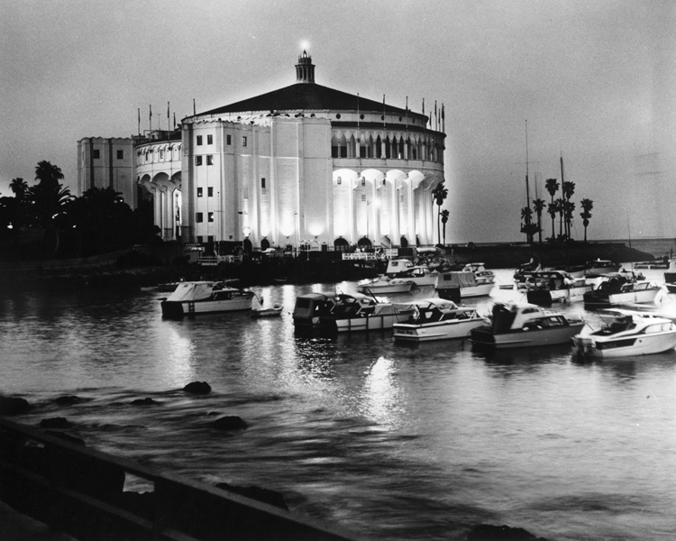 . Casino at night Photo Courtesy Catalina Island Museum