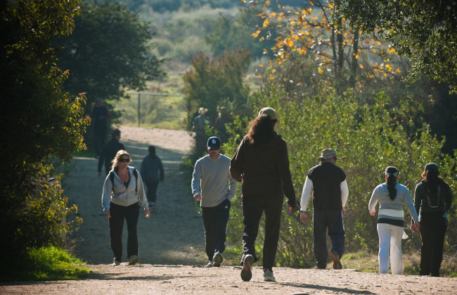 . Hikers fill the trails of the Claremont Hills Wilderness Park in Claremont.  (Staff photo/Inland Valley Daily Bulletin)