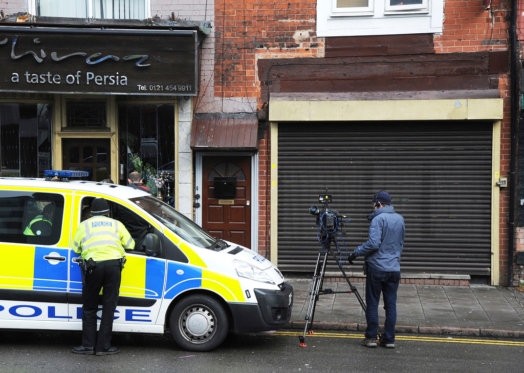 . The property which was searched by police following yesterday\'s London attack, in Birmingham, England, Thursday March 23, 2017.   On Wednesday a man went on a deadly rampage, first driving a car into pedestrians then stabbing a police officer to death before being fatally shot by police within Parliament\'s grounds in London. (AP Photo)