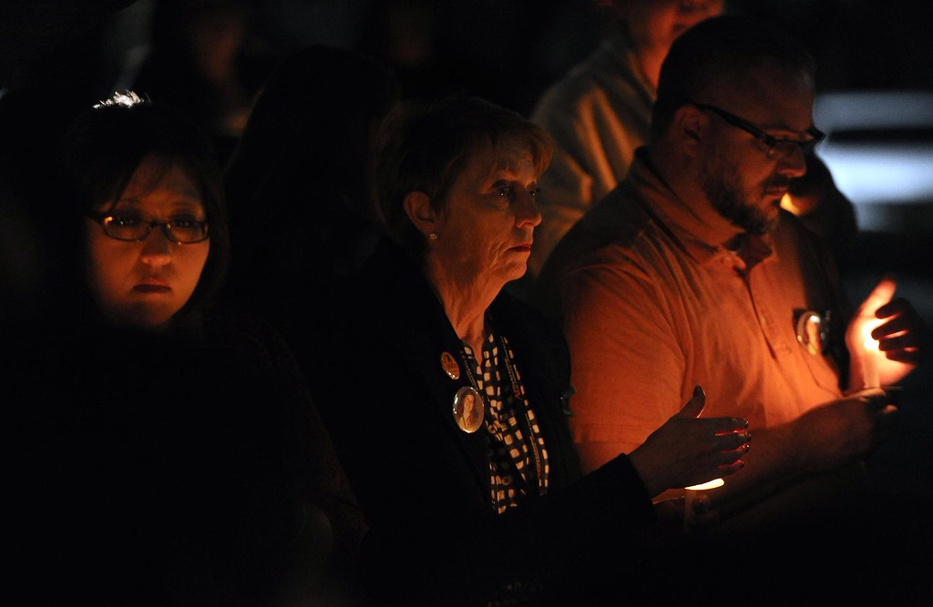 . Friends, family members and classmates hold a candlelight vigil for missing student, Sahray Barber, 22, on Friday, March 13, 2015 at the Art Institute of California Inland Empire in San Bernardino, Ca.  (Photo by Micah Escamilla/The Sun)