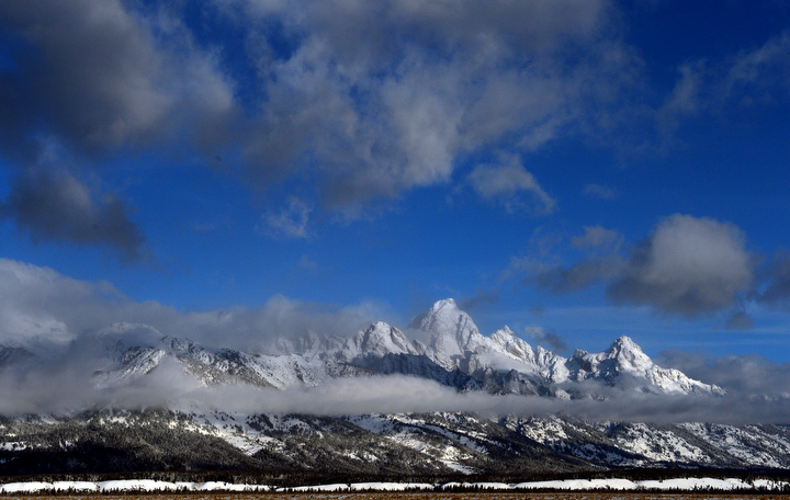 . A brief clearing in between storms shows the beauty of the Grand Tetons. PHOTO:Will Lester