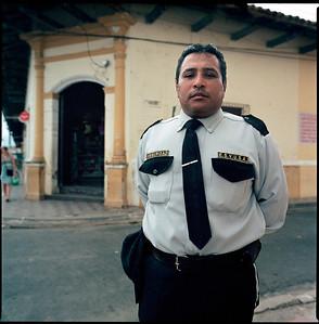 Bank security guard, Granada, Nicaragua.