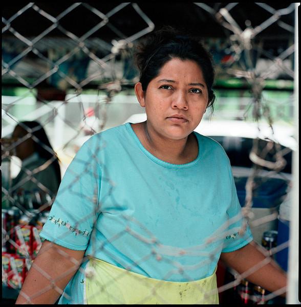 Food vendor, Managua, Nicaragua.