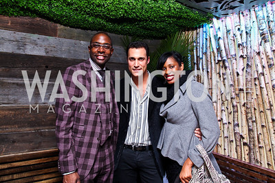Andre Wells, Nigel Barker, Kadrieka Maiden. Nigel Barker Book Party. Photo by Tony Powell. Eden. February 24, 2011