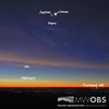 Four planets at dawn
