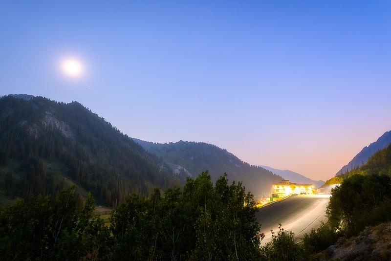 A Hazy Summer evening at Alta